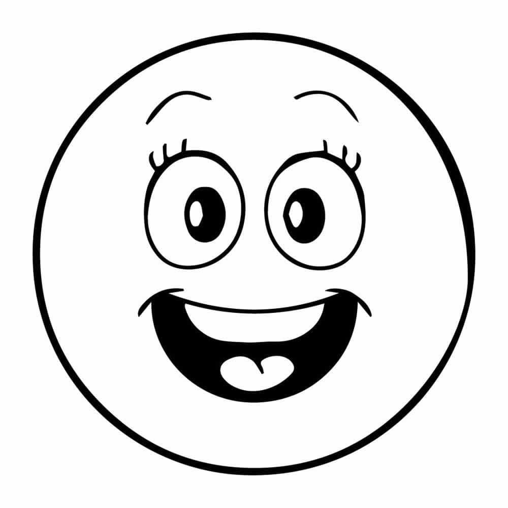 Dibujos De Emojis Para Colorear  DEEMOJIS.CO