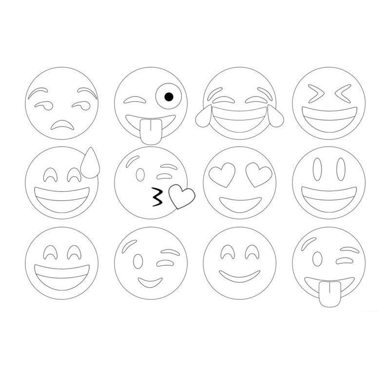emoticones para colorear
