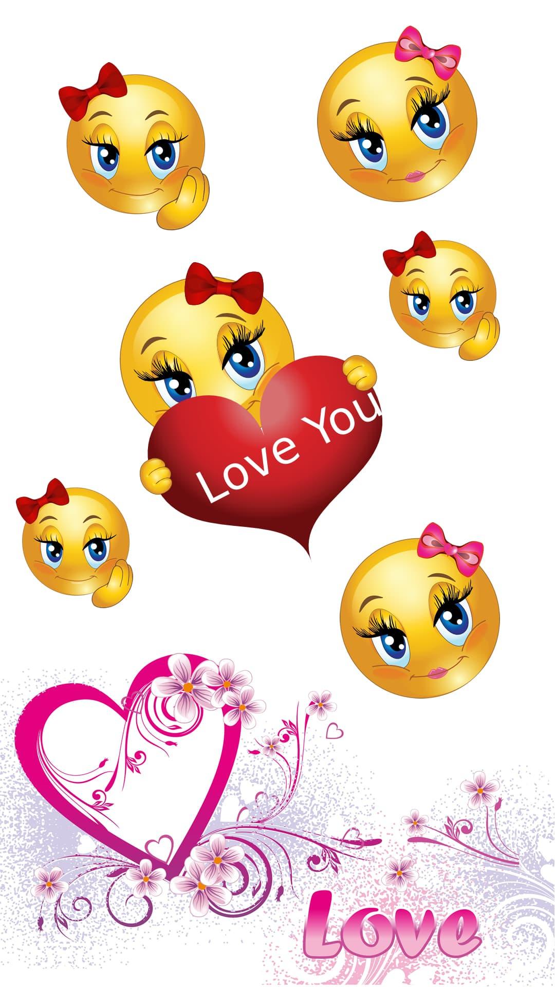 fondo de pantalla love emojis