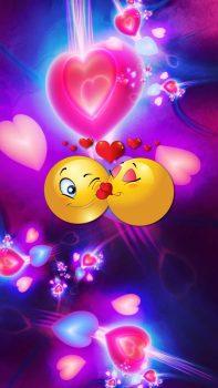 fondos de pantalla emojis enamorados
